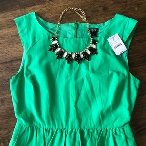 *NWT* Green Lucille J Crew Size 4 Dress